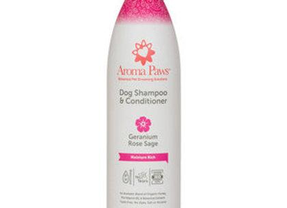 Dog Shampoo & Conditioner (Geranium Rose & Sage)