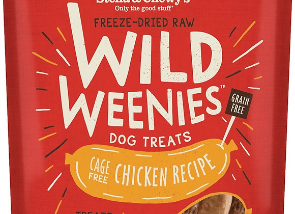 Stella & Chewys Dog Freeze Dried WEENIE Chicken 3.25 oz.