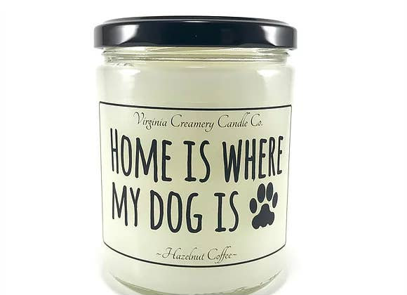 Virginia Creamery Company Home Is Where My Dog Is Candle