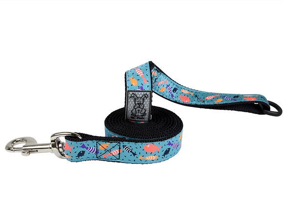 Dog Leash RCPETS Shoal design, durable reflective material with floating accessory D-ring