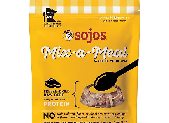 SOJOS DOG FREEZE-DRIED MIX-A-MEAL PROTEIN BEEF 8OZ