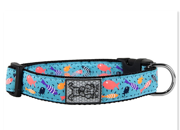 Dog Clip Collar RCPET Shoal Design clip on clip off, durable and reflective material