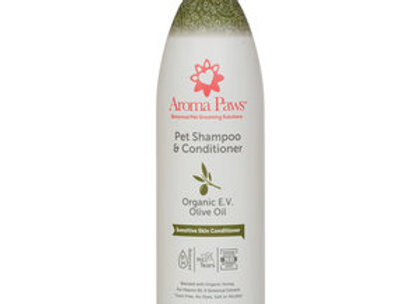Dog Shampoo & Conditioner (Organic E.V. Olive Oil)