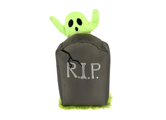 Ghoulish Grave Doggie Plush Squeaky Toy