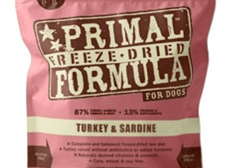 Primal Pet Foods Freeze Dried Dog  Food 5.5 oz.- Turkey Sardine
