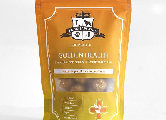 """Lord Jameson """"Golden Health"""" Organic Turmeric + Flaxseed Dog Treats"""