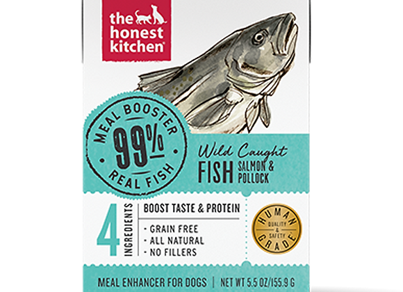 Honest Kitchen Dog 99% Salmon & Pollock Meal Booster Wet Food 5.5 Oz. Case of 12