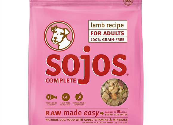 SOJOS DOG FREEZE-DRIED COMPLETE ADULT LAMB 1.75LB