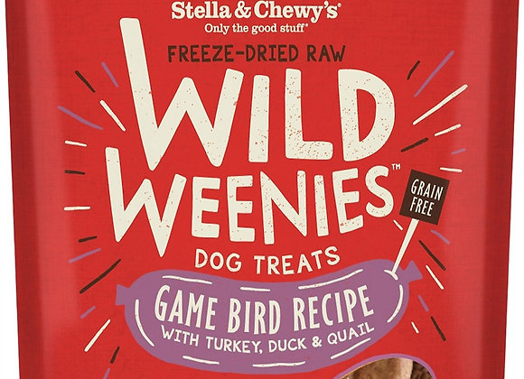 Stella & Chewys Dog Freeze Dried WEENIE Game Bird 3.25 oz.