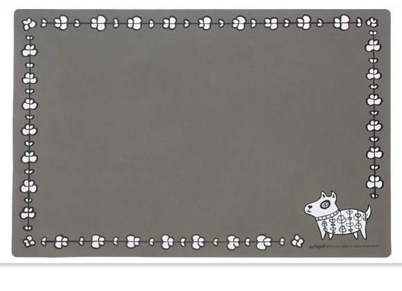Henna Dog Placemat in Grey