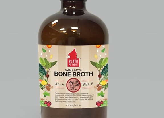 Plato Bone Broth  Beef 16oz. (4PK)