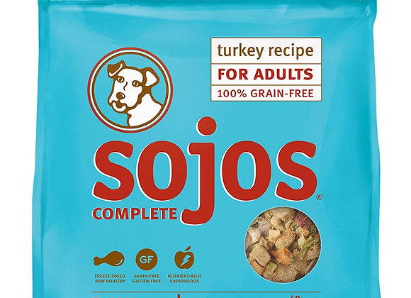 SOJOS DOG FREEZE-DRIED COMPLETE ADULT TURKEY 7LB