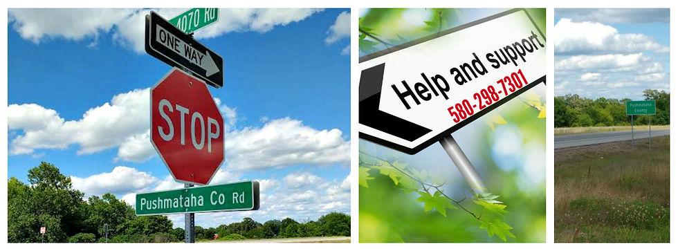 Road Signs in Pushmataha County