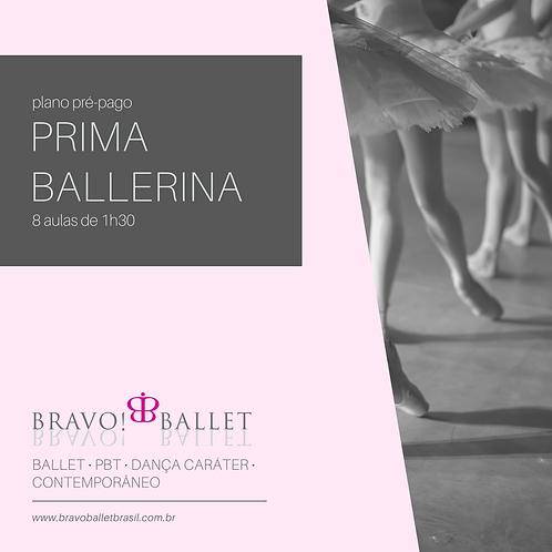 Plano Pré-Pago Prima Ballerina (8 aulas de 1h30)