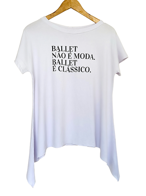 Camiseta Clássica Bravo! Ballet Branca