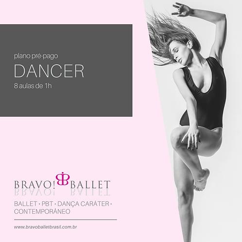 Plano Pré-Pago Dancer (8 aulas de 1 hora)
