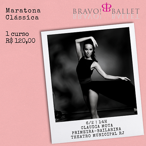 Ballet intermediário+ variação com Claudia Mota (6/2)