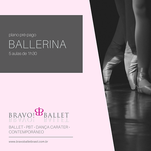 Plano Pré-Pago Ballerina (5 aulas de 1h30)