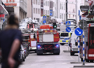 Truck Rams into Store in Stockholm