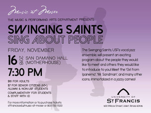 USF's Swinging Saints to Perform Concert This Friday