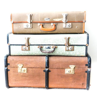 Suitcases x3
