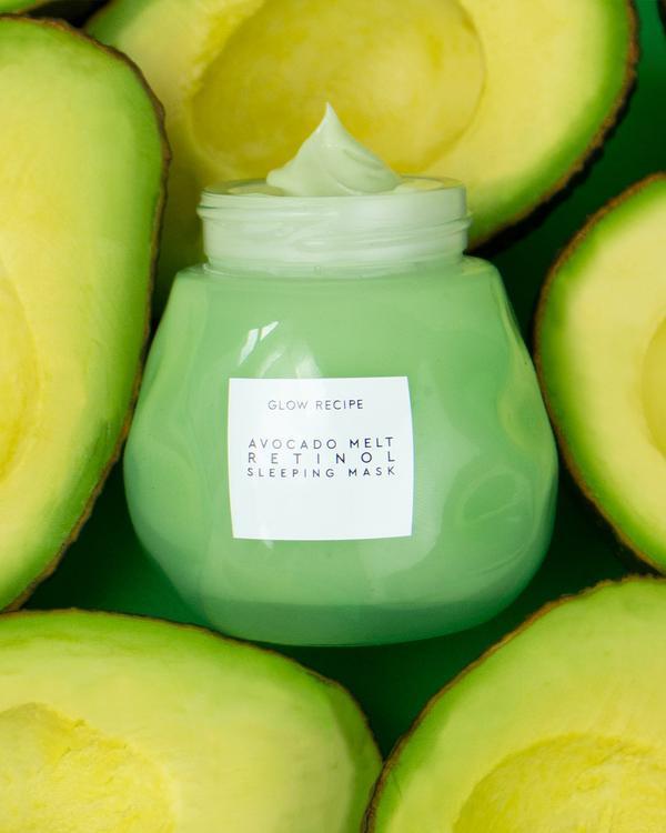 Avocado Melt Retinol Sleeping Mask image via Glow Recipe website