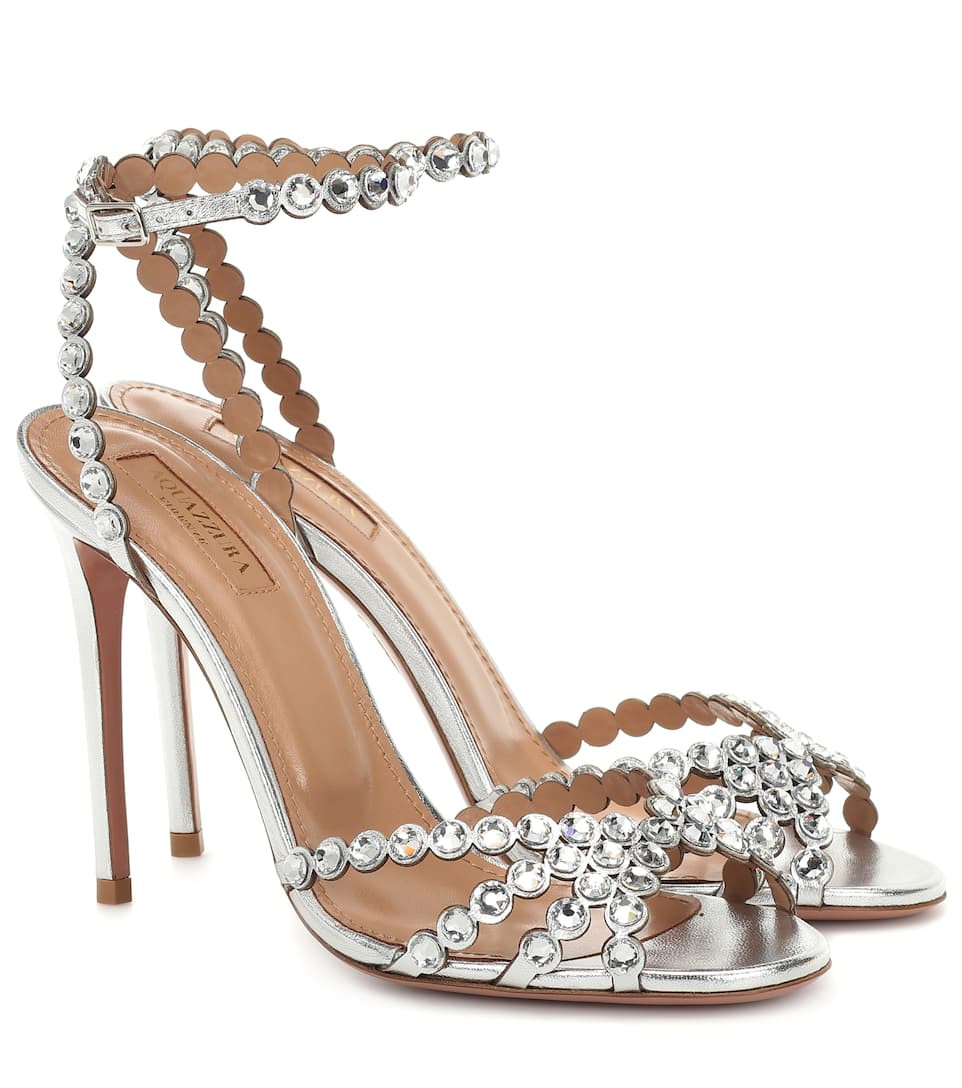 Aquazzura Tequila 105 leather sandals image via My Theresa website