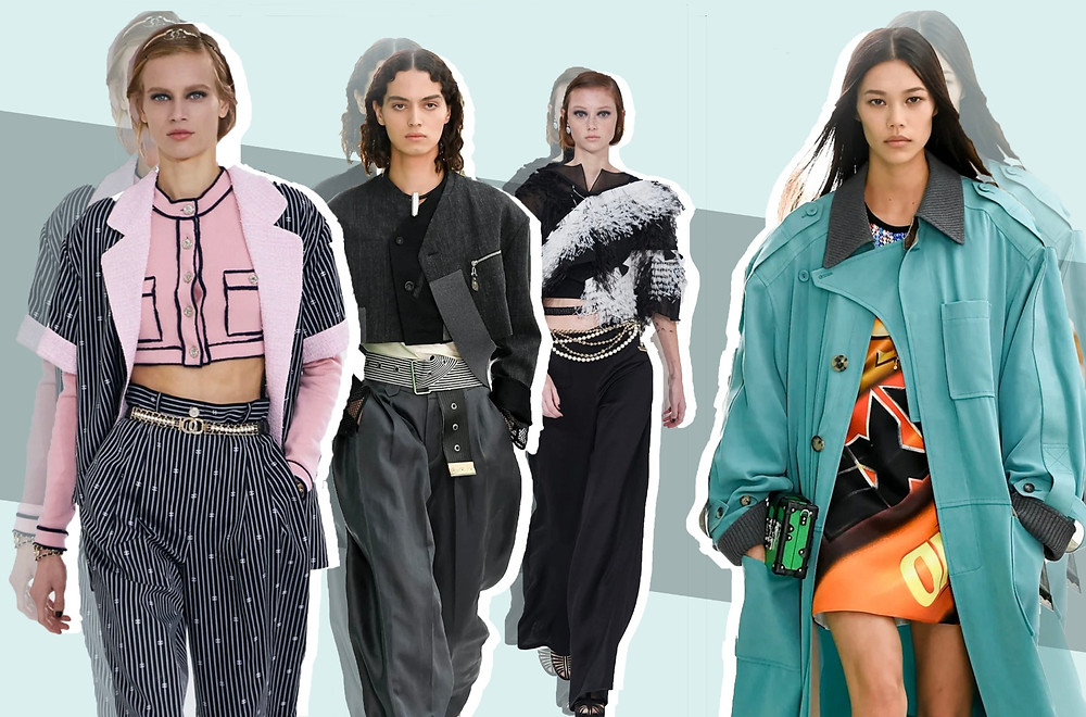 Chanel SS21 Collection, Louis Vuitton SS21 Collection, Miu Miu SS21 Collection images via Vogue Runway