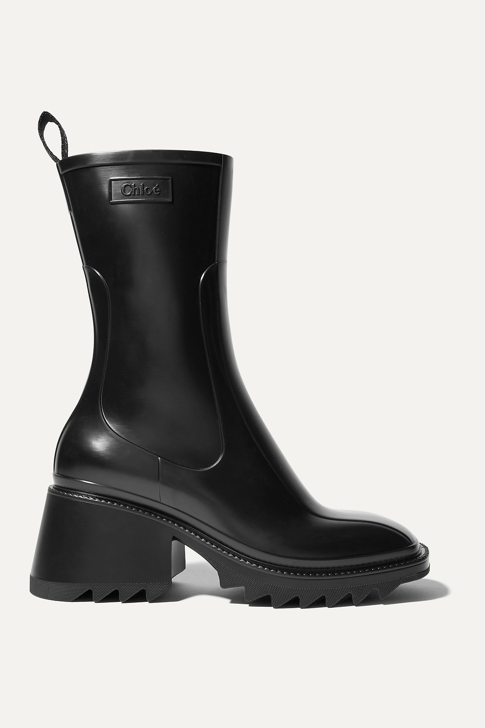 Chloé Betty rubber boots image via NET-A-PORTER