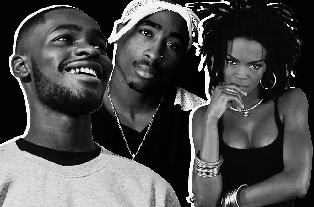 Dave, Tupac, Lauryn Hill images via Evening Standard, Pinterest and Draisdxb website