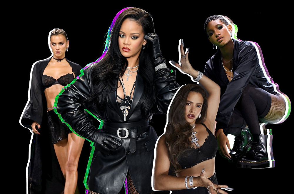 Irina: Getty Images, Rihanna Photo: Getty Images Courtesy of Amazon Prime, Rosalia Dennis Leupold for Savage X Fenty Show Vol. 2 Presented by Amazon Prime Video, Willow: Getty Images