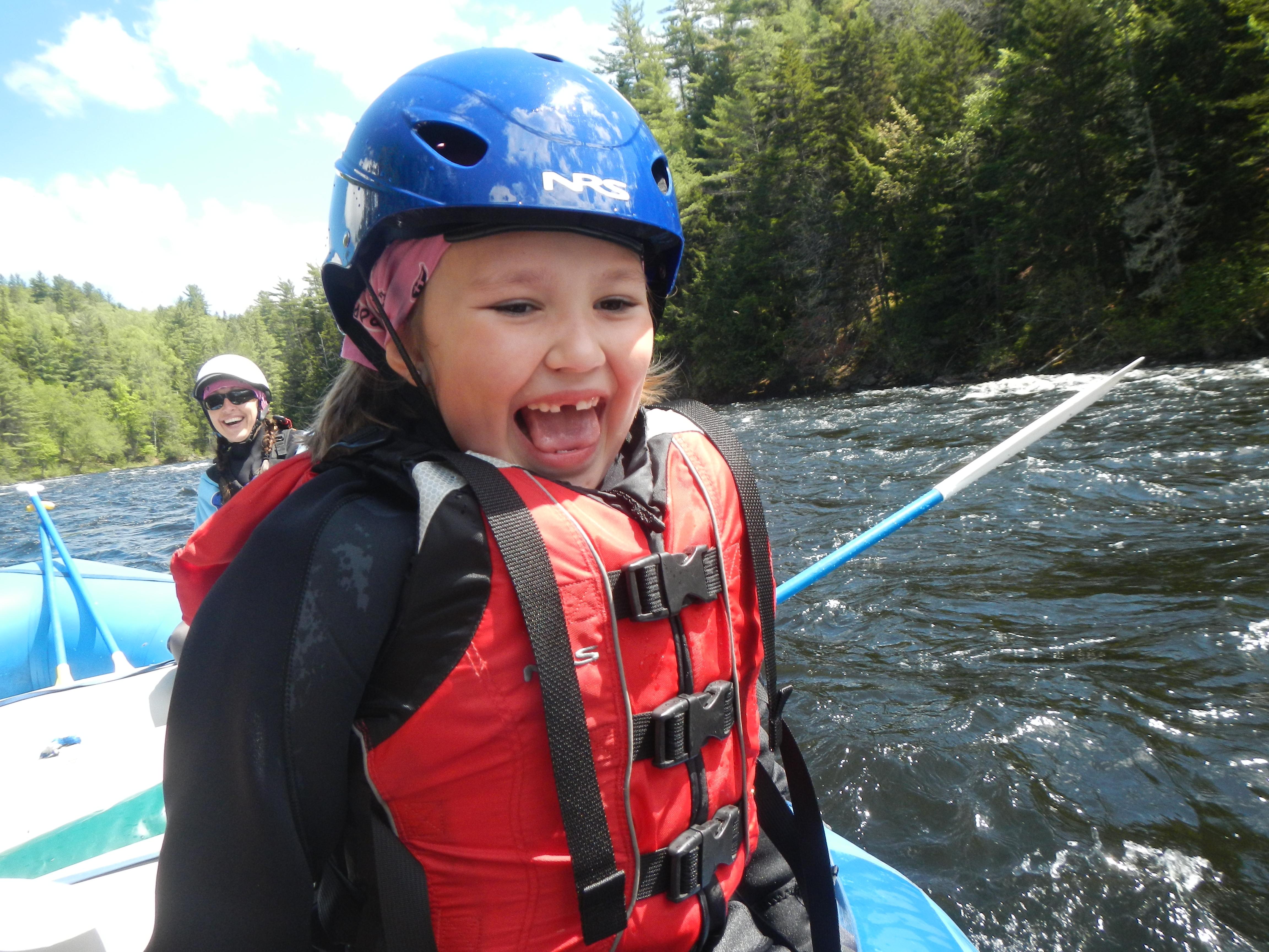Small Child Having Fun Rafting