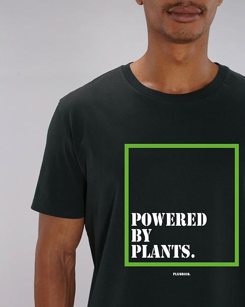 Powered by plants -              Black Tshirt Unisex
