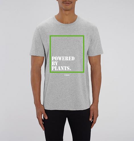 Powered by plants - Grey Tshirt Unisex