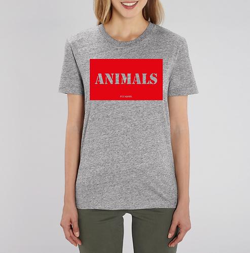 Animals - Grey Tshirt Unisex