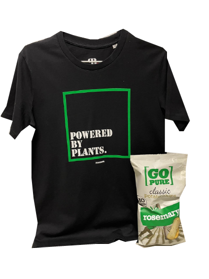 Powered by plants Tshirt & chips