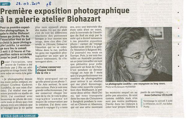 Exposition loubika biohazart