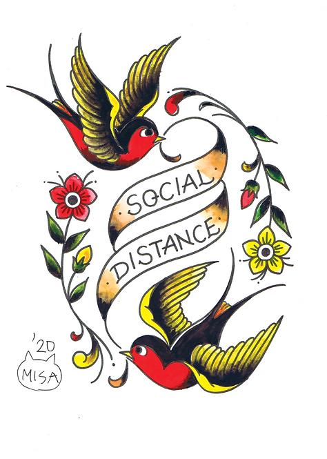 Social Distance A4 Print