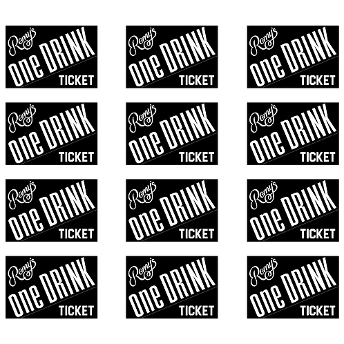 12 Drink Ticket + Stickers Set