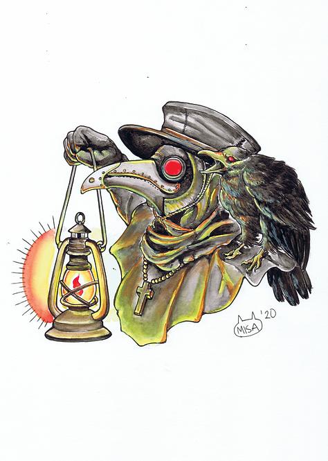 Plague Doctor A4 Print