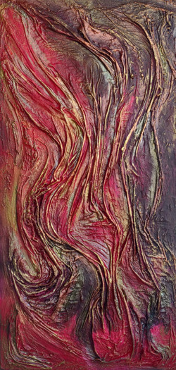 Mary Bobson Fiery sunset waves, 2021