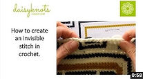 How to work an invisible join in Crochet