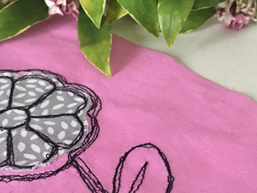 How to draw with your sewing machine - lesson 2