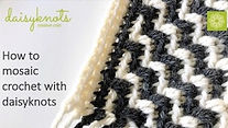 Learn how to mosaic crochet for beginners