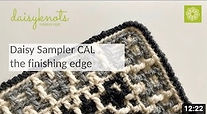 How to add a whipped edge to your crochet project