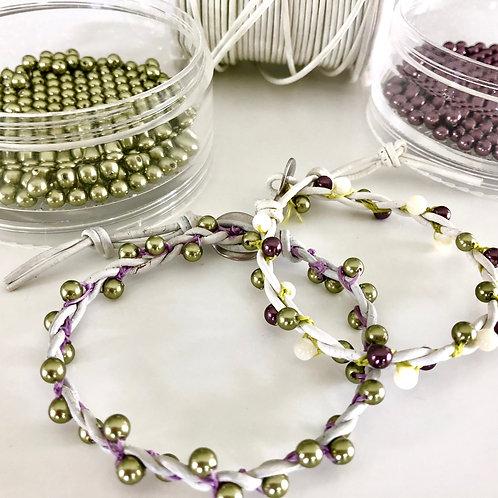 Emmeline Bracelet kit - leather cord
