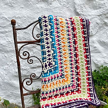 The bright Daisy Sampler pattern on the isle of Tiree