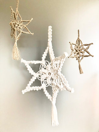 2D and 3D Macrame Snowflake