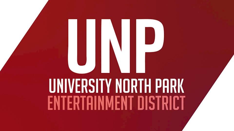 University North Park entertainment district rendering