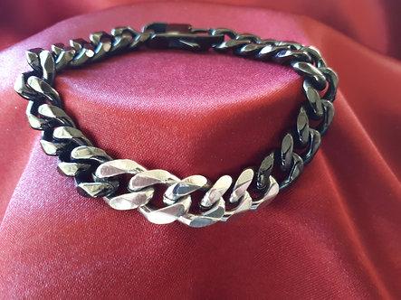 Black & Stainless Steel Chain Bracelet